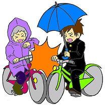 自転車傘差し運転